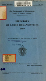 Directory of labor organizations in Massachusetts 1969_cover