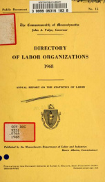 Directory of labor organizations in Massachusetts 1968_cover