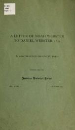 Letter ... to Daniel Webster_cover