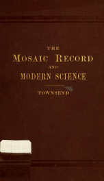 The Mosaic record and modern science_cover