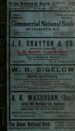 Charlotte, North Carolina city directory [serial] 1913_cover