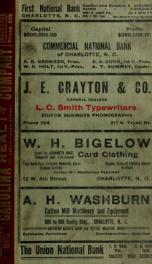 Charlotte, North Carolina city directory [serial] 1911_cover