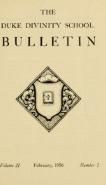 The Duke Divinity School bulletin [serial] 21(1-4), 1956-57_cover