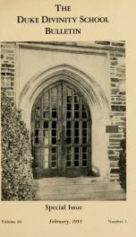 The Duke Divinity School bulletin [serial] 20(1-4), 1955-56_cover
