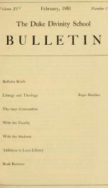 The Duke Divinity School bulletin [serial] 16(1-4), 1951_cover