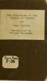 The catechism of the church of Geneva_cover
