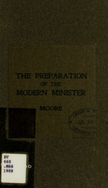 The preparation of the modern minister_cover