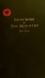For the work of the ministry; for the classroom, the study and the street_cover