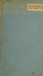 List of Etonians who fought in the great war, 1914-1919_cover