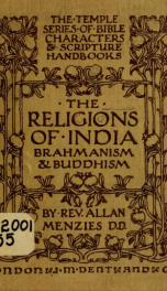 The religions of India : Brahmanism and Buddhism_cover