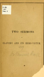 The iniquity: a sermon in the First Church, Dorchester, on Sunday Dec. 11, 1859_cover