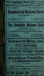 Charlotte, North Carolina city directory [serial] 1916_cover