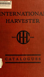 Sterling threshers : sold by International Harvester Company of America_cover