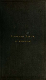 Leonard Bacon: pastor of the First Church in New Haven_cover
