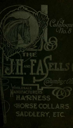 Catalogue no. 8 : wholesale manufacturers of harness, saddlery, horse collars and saddles, wholesale dealers in saddlery hardware, blankets and robes, fly nets and dusters_cover