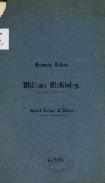Memorial tribute to William McKinley .. 1_cover