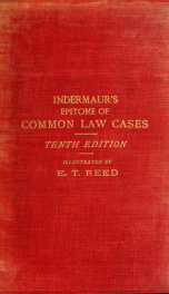 """An epitome of leading common law cases : with some short notes thereon, chiefly intended as a guide to Smith's """"Leading cases""""_cover"""