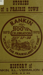 Stories of a prairie town : history of Rankin, Ill.-Vermilion Co_cover