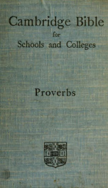 The Proverbs : with introduction and notes_cover