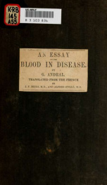 Pathological hæmatology. An essay on the blood in disease_cover
