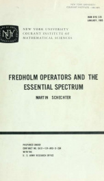 Fredholm operators and the essential spectrum_cover