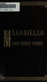 Masaniello and other poems_cover