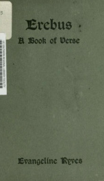 Erebus : a book of verse_cover