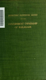 Selected articles on government ownership of railroads_cover