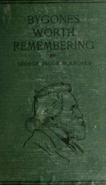 Bygones worth remembering;_cover
