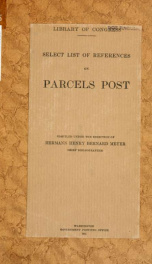 Select list of references on parcels post_cover