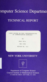 Lower bounds on VLSI implementations of communication networks_cover