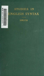 Studies in English syntax_cover
