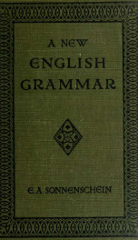 A new English grammar based on the recommendations of the Joint Committee on Grammatical Terminology_cover