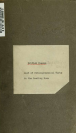 List of bibliographical works in the reading room of the British museum_cover