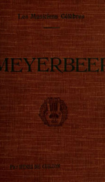 Meyerbeer : biographie critique_cover