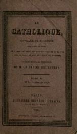 Various Periodicals: Le catholique 40, no.31_cover