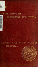 Catalogue of books chiefly relating to English and American history and antiquities together with a collection of historical, ecclesiastical, and political tracts (from 1624). Presented to the University of McGill College, Montreal_cover