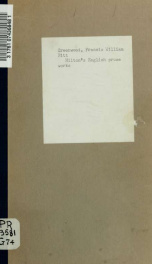 Milton's English prose works_cover