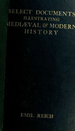 Select documents illustrating mediæval and modern history_cover