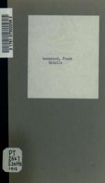 Hidalla; Schauspiel in fünf Akten, 1903-1904_cover