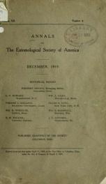 Annals - Entomological Society of America 12, no.4_cover
