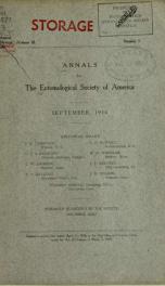 Annals - Entomological Society of America 3, no.3_cover
