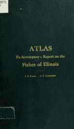 Maps showing distribution of Illinois fishes to accompany a report on the fishes of Illinois_cover