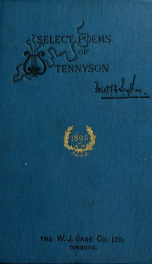 Select poems of Tennyson_cover