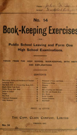 Book-keeping exercises for public school leaving and form one high school examinations : taken from the high school book-keeping, with hints and explanations_cover