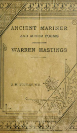 Coleridge's Ancient mariner and selected minor poems, and Macaulay's Essay on Warren Hastings_cover