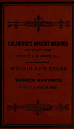 Rime of the ancient mariner, and select odes_cover