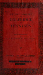 Select poems of Coleridge and Tennyson_cover