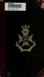 Record of the North Cork Regiment of Militia, with sketches extracted from history of the times in which its services were required, from 1793 to 1880_cover