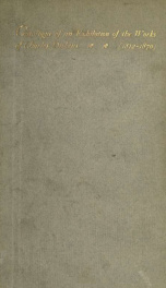 Catalogue of an exhibition of the works of Charles Dickens_cover